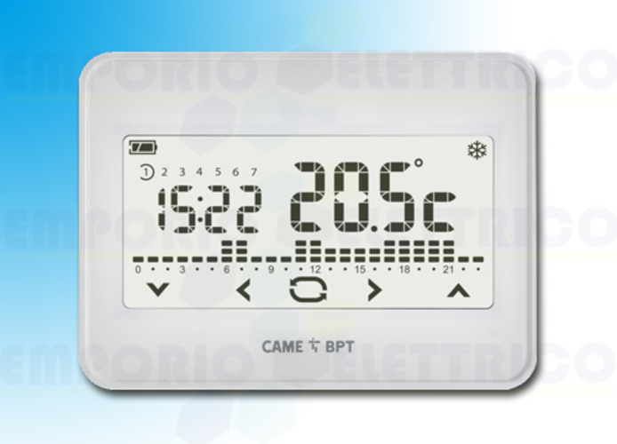 came bpt wall touch screen chronothermostat th/550 wh 230 845aa-0030