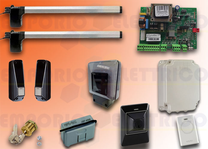faac automation kit 230v ac eco kit green 105632445fr