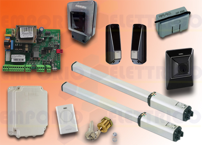 faac automation kit 230v ac leader kit green 105633445fr
