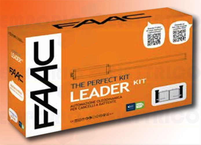faac automation kit 230v ac leader kit perfect 105911fr