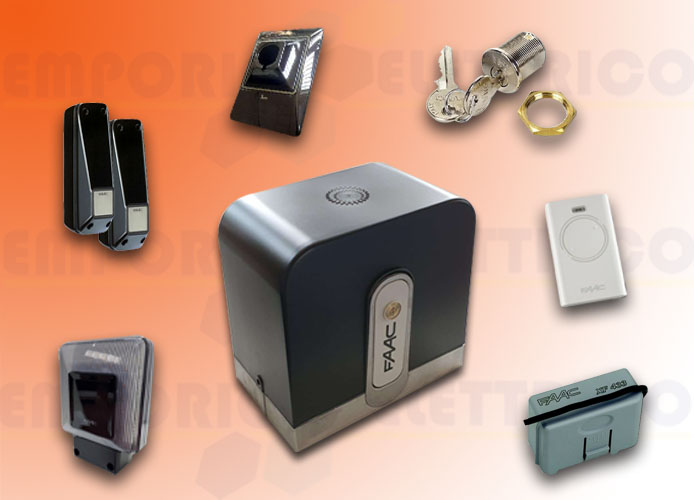 faac automation kit rapid (ex cyclo) 24v dc safe&green 1059995fr