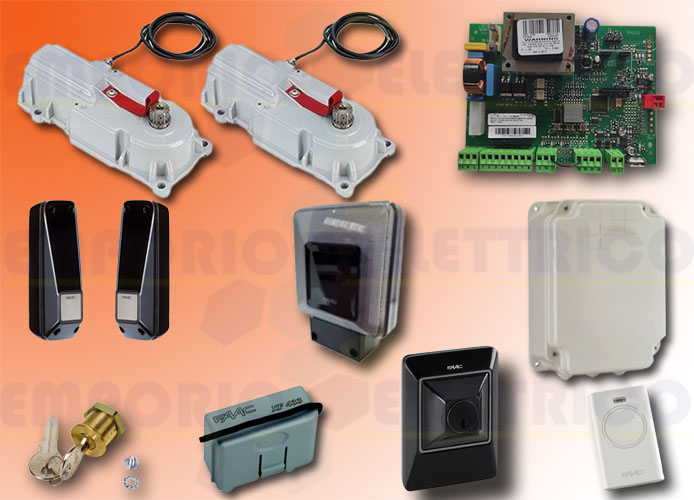 faac automation kit 230v ac power kit green 106746445fr