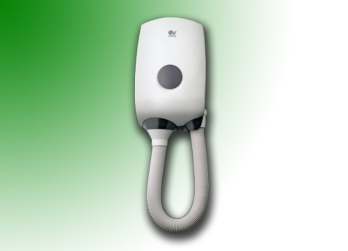 vortice vortdry 1000 wall hair dryer with flexible pipe 70920
